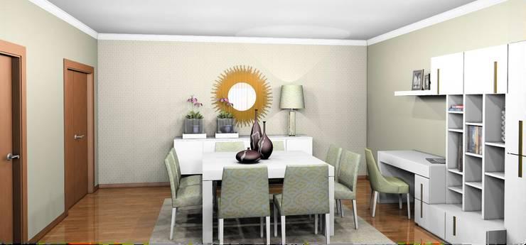 Sala de Estar/Jantar Milãp:   por BS Interiores