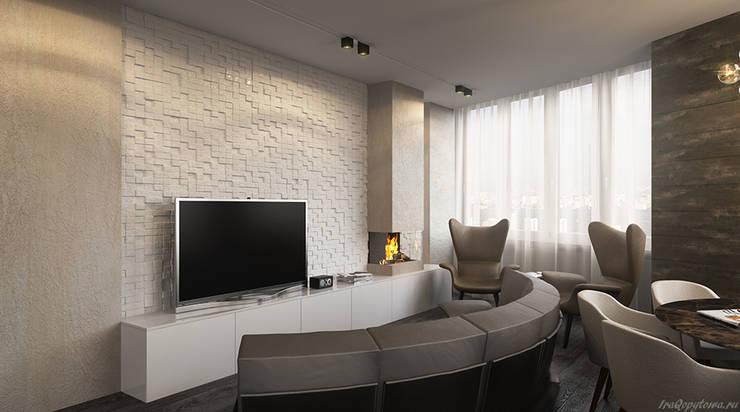 Апартаменты с видом на канал имени Москвы: Гостиная в . Автор – Архитектор-дизайнер интерьеров