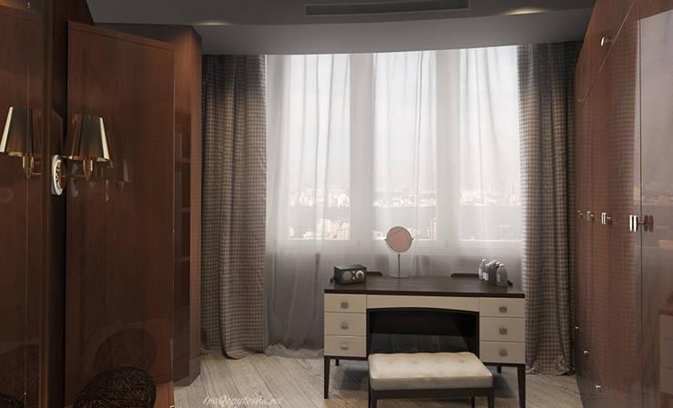 Апартаменты с видом на канал имени Москвы: Гардеробные в . Автор – Архитектор-дизайнер интерьеров