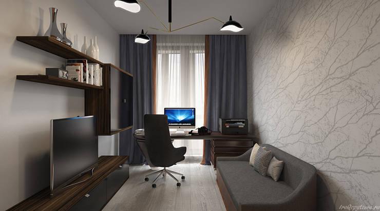 Апартаменты с видом на канал имени Москвы: Рабочие кабинеты в . Автор – Архитектор-дизайнер интерьеров