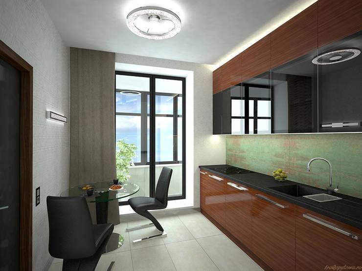 Апартаменты с видом на канал имени Москвы: Кухни в . Автор – Архитектор-дизайнер интерьеров