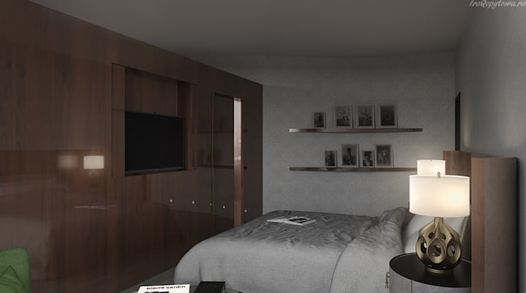 Апартаменты с видом на канал имени Москвы: Спальни в . Автор – Архитектор-дизайнер интерьеров