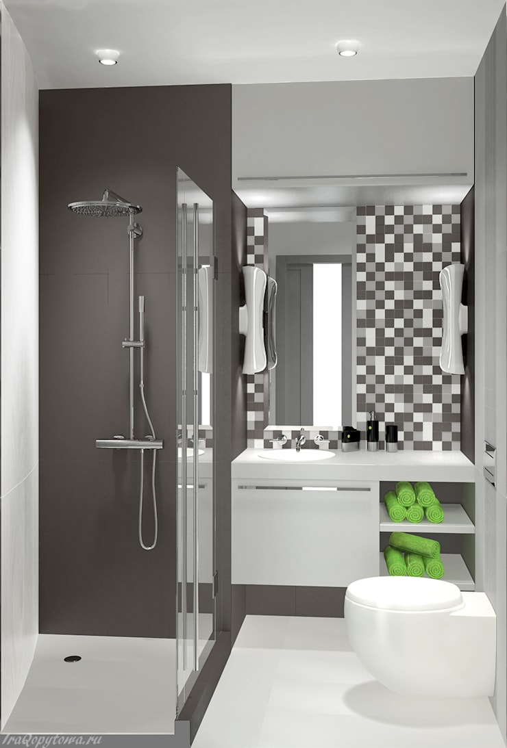 Апартаменты с видом на канал имени Москвы: Ванные комнаты в . Автор – Архитектор-дизайнер интерьеров