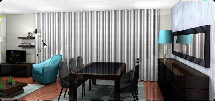 Sala de Estar/Jantar Viena:   por BS Interiores