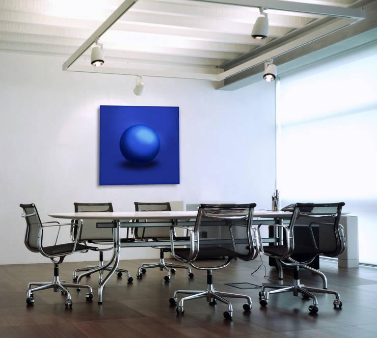 """Energetisierendes Lichtsprache-Wandobjekt """"Blue Sphere"""" - der Kommunikations-Booster:   von Lightwork Wittig & Wittig,Ausgefallen"""