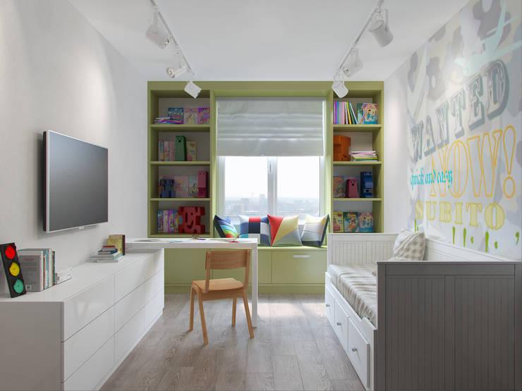Квартира в силе Ар-деко, ЖК «Гранд Фамилия», 97 кв.м.: Детские комнаты в . Автор – Студия дизайна интерьера Маши Марченко
