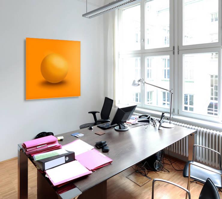 """Energetisierendes Lichtsprache-Wandobjekt """"Orange Sphere"""" - bringt Zusammenarbeit ins Rollen:   von Lightwork Wittig & Wittig,Ausgefallen"""