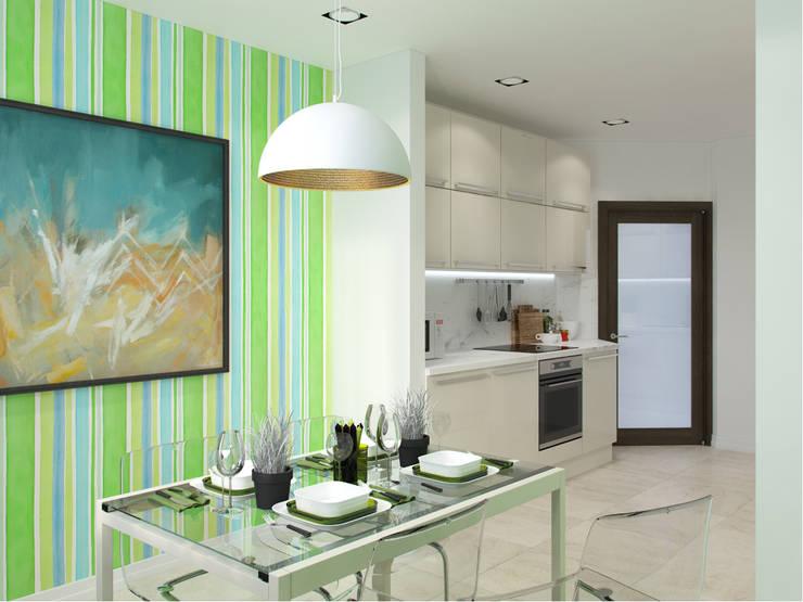 Квартира в силе Ар-деко, ЖК «Гранд Фамилия», 97 кв.м.: Кухни в . Автор – Студия дизайна интерьера Маши Марченко