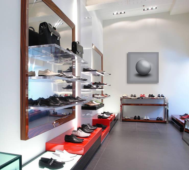"""Energetisierendes GALLERY Wandobjekt """"Grey Sphere"""" - Schubkraft zum Durchstarten:  Ladenflächen von Lightwork Wittig & Wittig,Ausgefallen"""