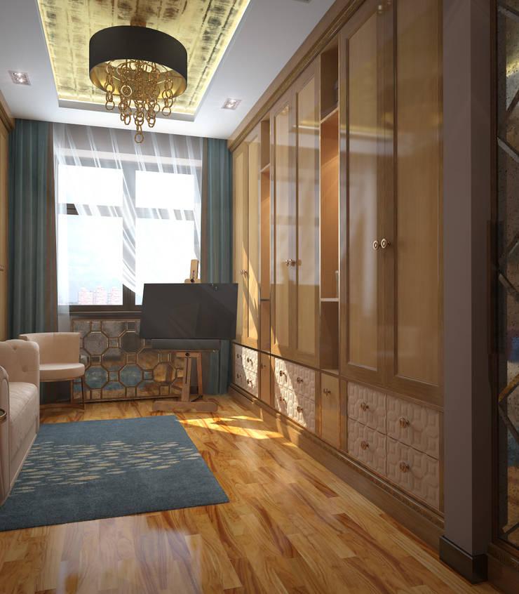 Гардеробные комнаты.: Гардеробные в . Автор – Архитектурно-дизайнерская компания Сергея Саргина