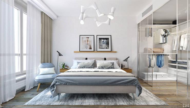 Slaapkamer door 1+1 studio