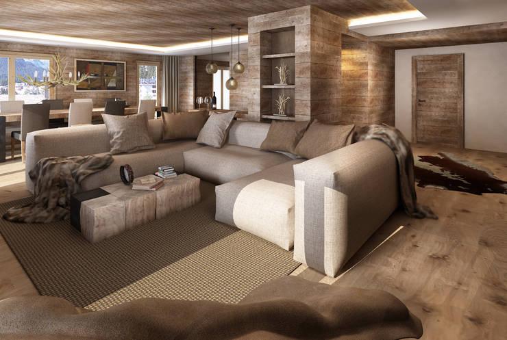 Salas / recibidores de estilo  por Avogadri simone archi3d