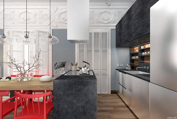 Квартира на Кирочной: Кухни в . Автор – 1+1 studio
