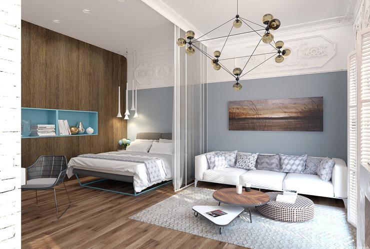 Квартира на Кирочной: Спальни в . Автор – 1+1 studio