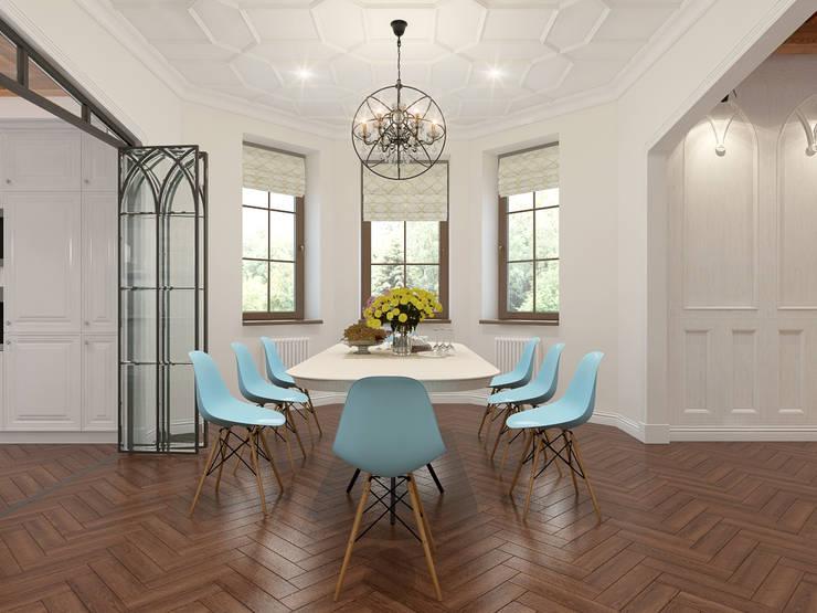 Dining room by Архитектурно-дизайнерская компания Сергея Саргина