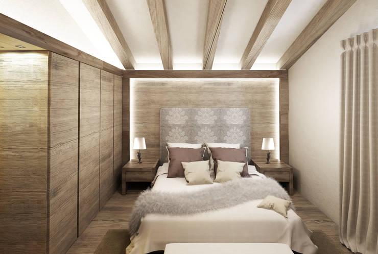 Dormitorios de estilo  por Avogadri simone archi3d