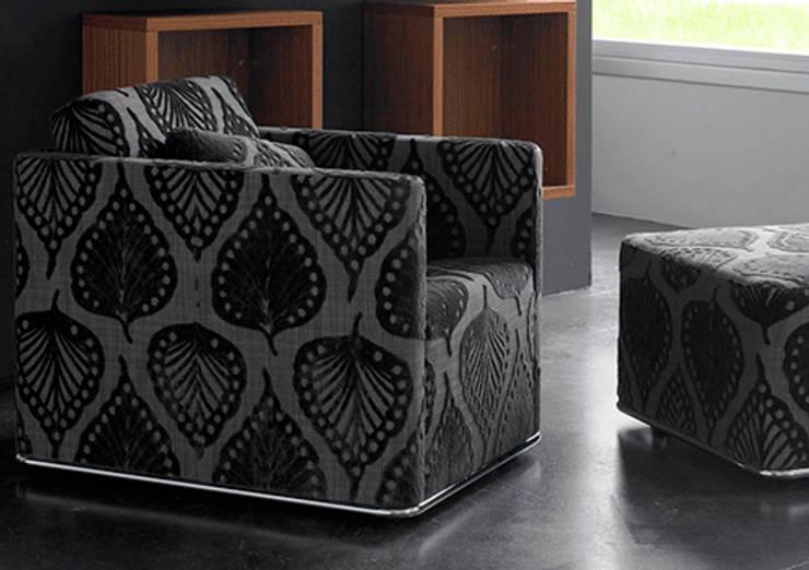 Sofá Glamour - Grassoler de Riviera Moderno Textil Ámbar/Dorado