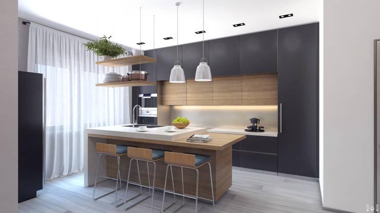 Таунхаус на Удельной: Кухни в . Автор – 1+1 studio