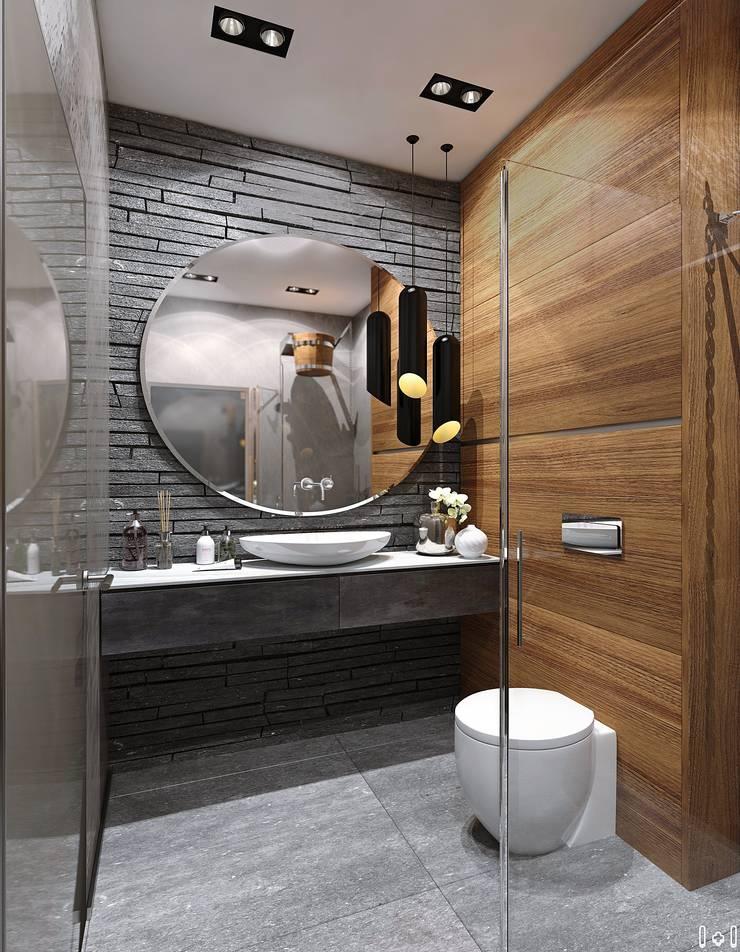 Таунхаус на Удельной: Ванные комнаты в . Автор – 1+1 studio
