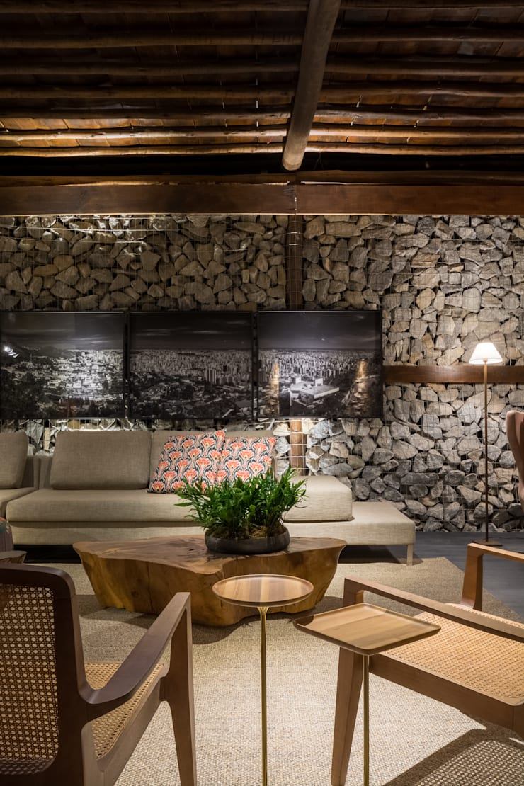 Casa Cor 2015 – Living: Salas de estar  por Melina Mundim | Design de Interiores