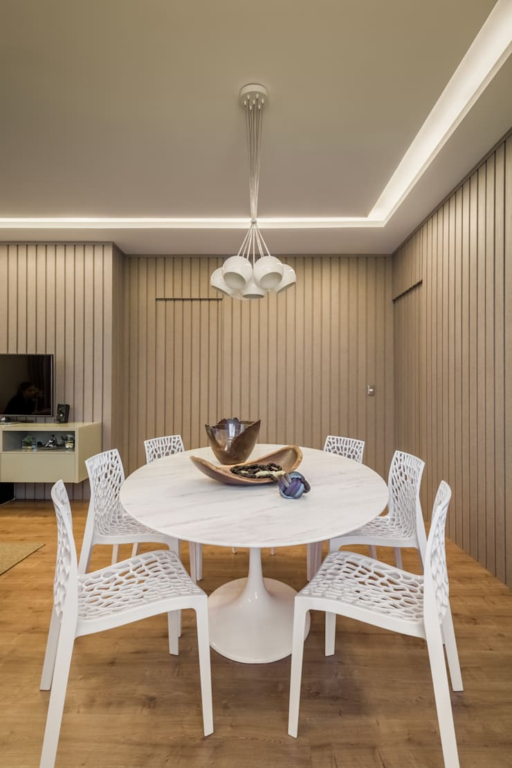 Apartamento Villa Paris: Salas de jantar  por Melina Mundim | Design de Interiores
