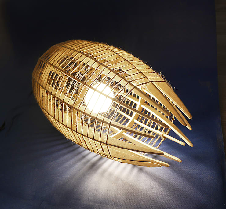 "светильник ""КОКОН"": Балкон, веранда и терраса в . Автор – Чудо дерево"