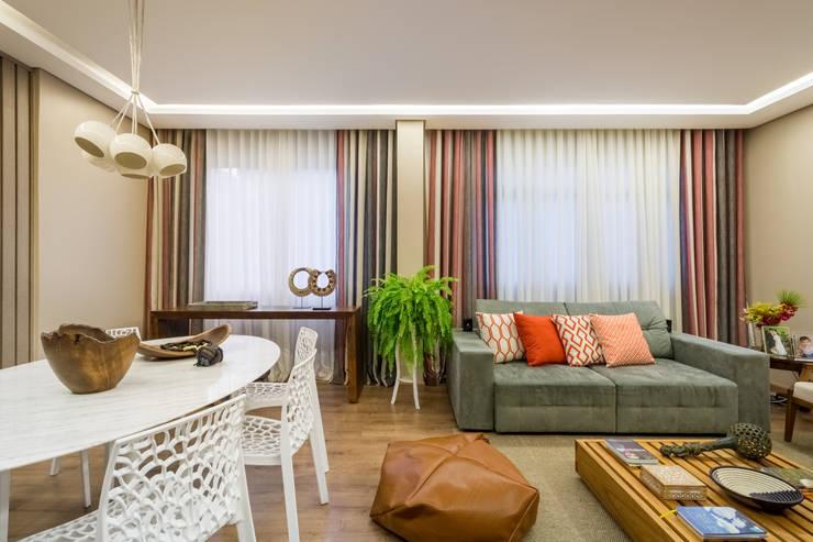 Apartamento Villa Paris Salas de estar modernas por Melina Mundim | Design de Interiores Moderno