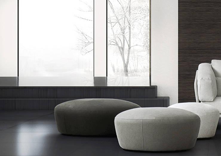 de estilo  por Riviera, Moderno Textil Ámbar/Dorado