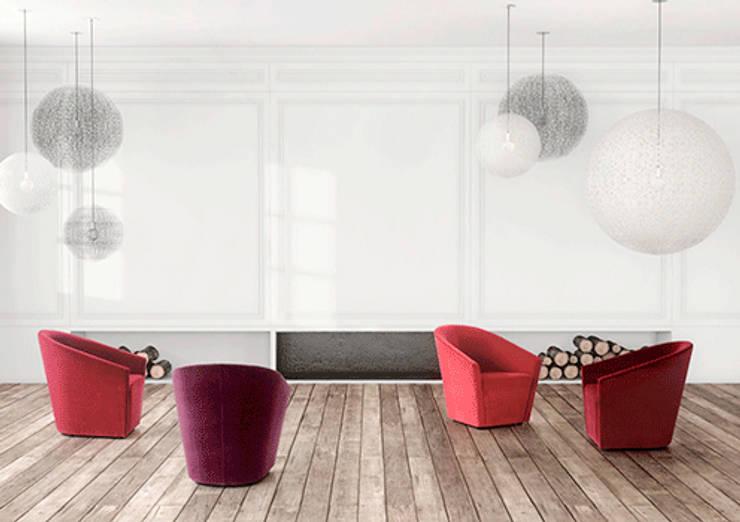 Opalina - Grassoler: Salas de estilo  por Riviera