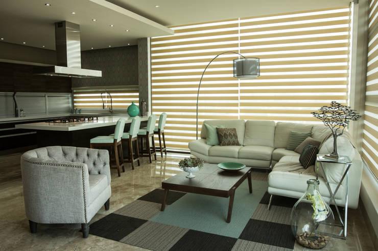 Salas / recibidores de estilo moderno por Dovela Interiorismo