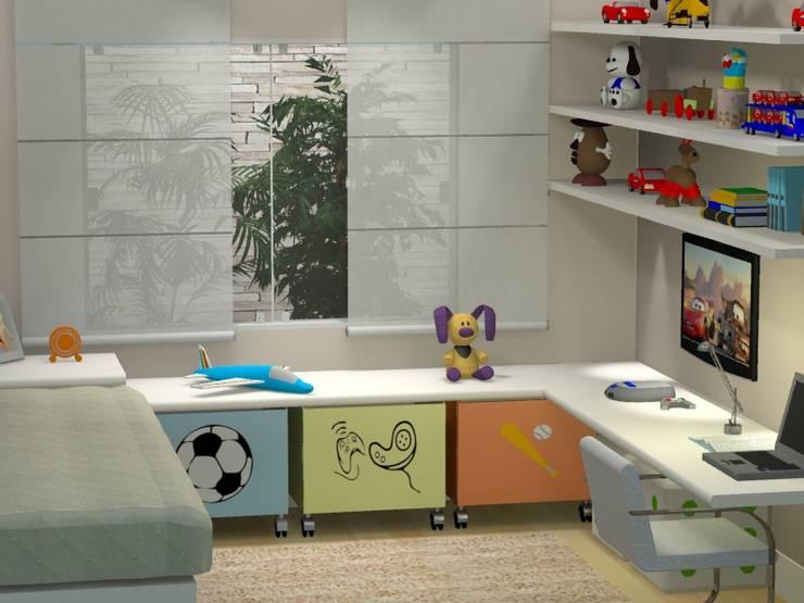 PROJETO 3D: Quarto infantil  por Claudia Fonseca Designer de Interiores
