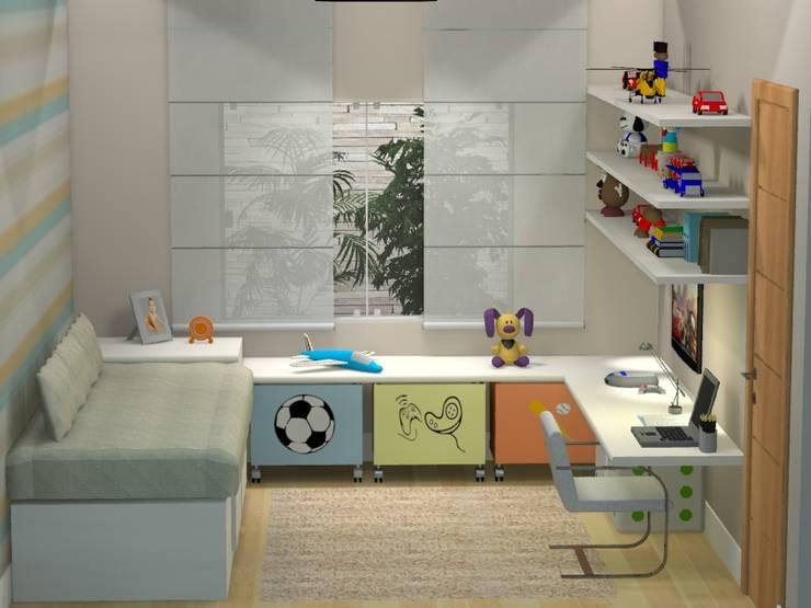 PROJETO 3D: Quartos  por Claudia Fonseca Designer de Interiores