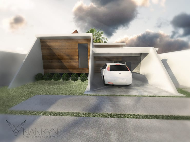 NG1: Casas minimalistas por Nankyn Arquitetura & Consultoria