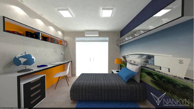 SQ2: Quartos  por Nankyn Arquitetura & Consultoria