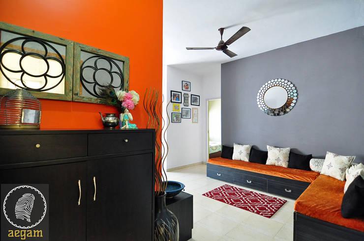 Apartment Remodel:  Living room by Aegam