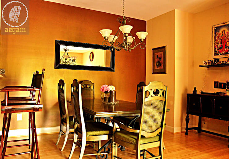 Colorful Indian Home:  Dining room by Aegam