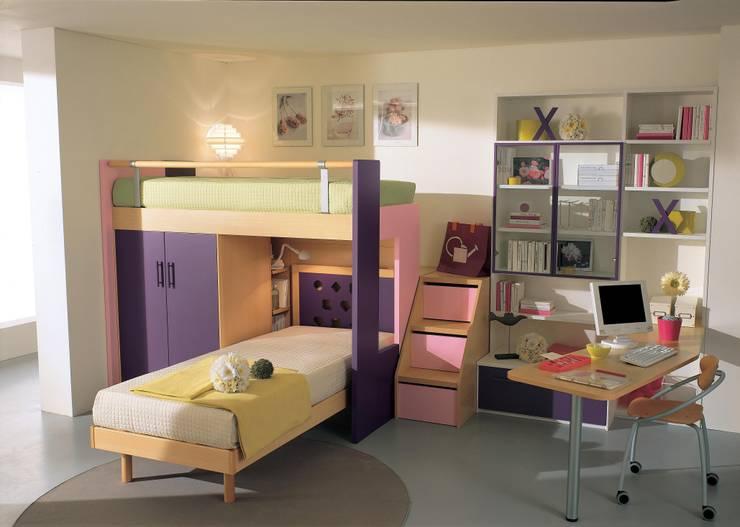 BedRooms Çocuk Odası Tasarımları – Kubik Ranza sistemleri:  tarz Çocuk Odası
