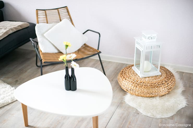 Salas de estilo  por E/P DESIGN - Emilie Peyrille