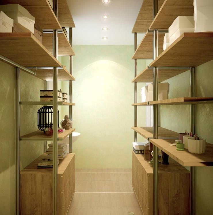 """Дизайн кладовой на 3-м этаже в коттеджном поселке """"Бавария"""": Гардеробные в . Автор – Студия интерьерного дизайна happy.design"""
