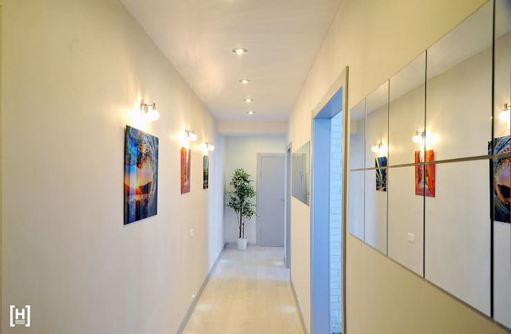 Koridor dan lorong oleh Hunter design, Minimalis Serat Alami Beige
