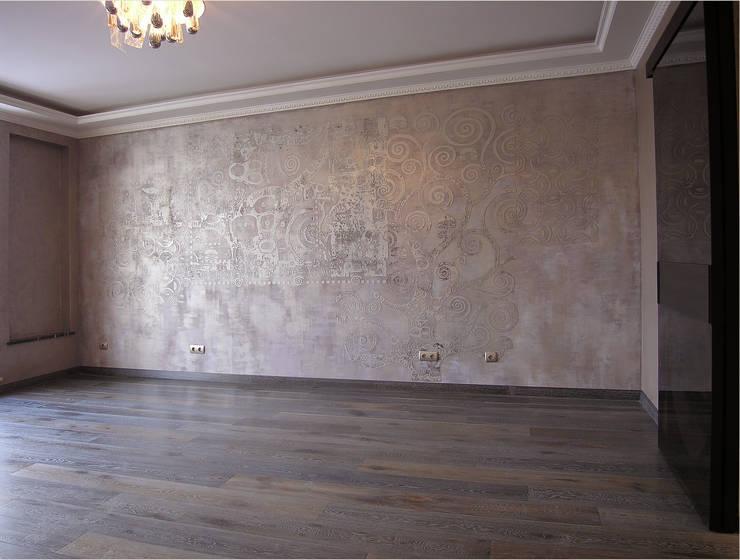 Декоративная настенная роспись: Гостиная в . Автор – мастерская22