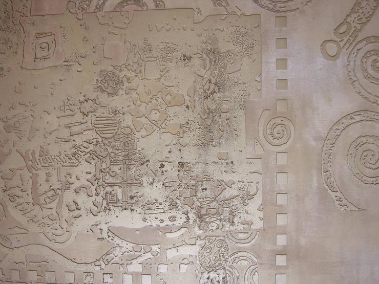 Декоративная настенная роспись, фрагмент: Гостиная в . Автор – мастерская22