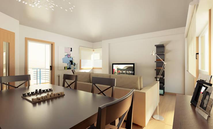 Apartamento Ikea: Salas de jantar  por José Tiago Rosa