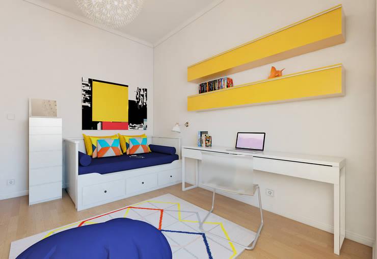 غرفة نوم تنفيذ José Tiago Rosa