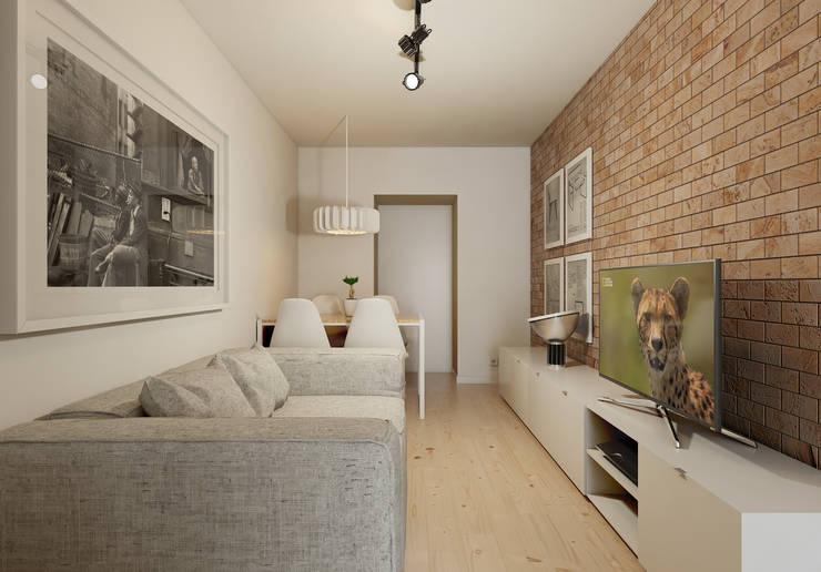 Mini T1: Salas de estar minimalistas por José Tiago Rosa