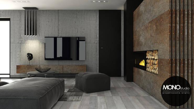 Wnętrze w męskim stylu: styl , w kategorii Salon zaprojektowany przez MONOstudio