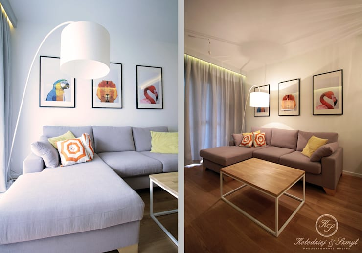 OAK: styl , w kategorii Salon zaprojektowany przez Kołodziej & Szmyt Projektowanie wnętrz,Nowoczesny
