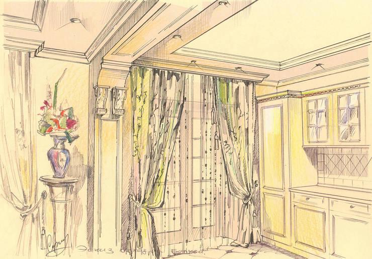 Квартира в ЖК «Московский».: Кухни в . Автор – Архитектурно-дизайнерская компания Сергея Саргина
