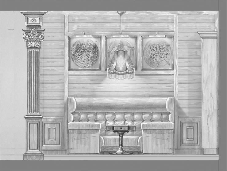 Загородный дом в поселке «Антоновка».: Коридор и прихожая в . Автор – Архитектурно-дизайнерская компания Сергея Саргина,