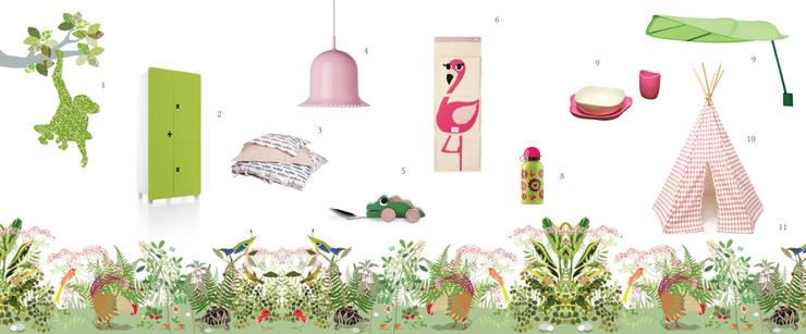 Decorazioni per la cameretta ispirate alla natura : Stanza dei bambini in stile  di amisuradibimbo